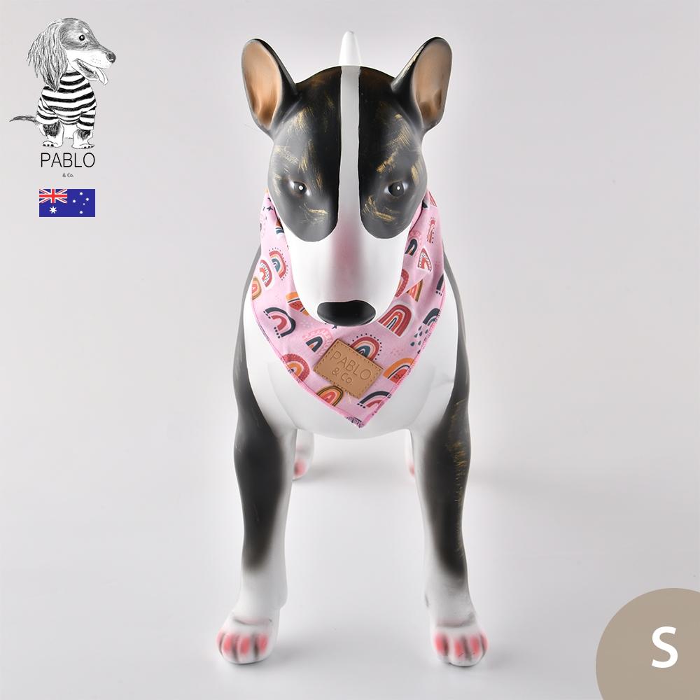 澳洲Pablo & Co 寵物領巾 更美麗彩虹 S