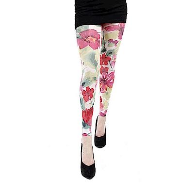 摩達客 英國進口義大利製Pamela Mann 狂野玫瑰 內搭褲九分褲襪/無足褲襪