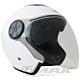LAUS雙鏡片半罩大頭機車安全帽CA313-白色 (贈6入免洗內襯套) product thumbnail 1