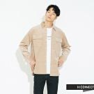 H:CONNECT 韓國品牌 男裝 - 雙口袋燈芯絨襯衫 - 卡其