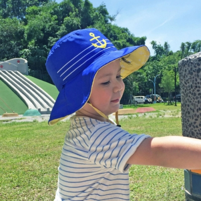 【DabbaKids】瓦拉幼童防曬雙面帽 UPF50+ -海島假期