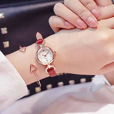 watch-123 女神同行-小圓盤少女心氣質細帶手錶 (3色任選)