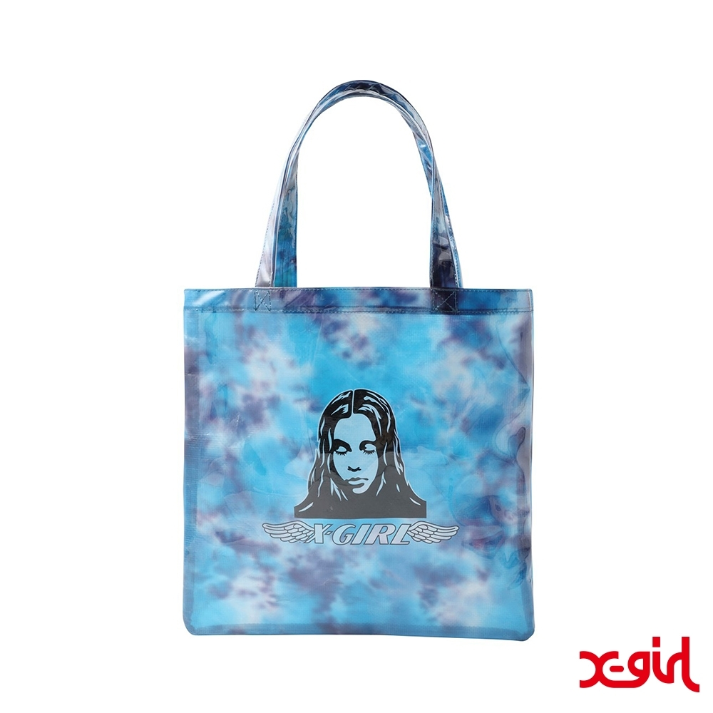 X-girl ANGEL FACE CLEAR TOTE BAG渲染防水托特包-藍 product image 1