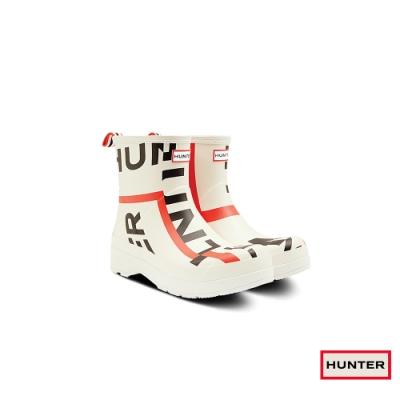 HUNTER - 男鞋 - PLAY Exploded Logo霧面短靴 - 白