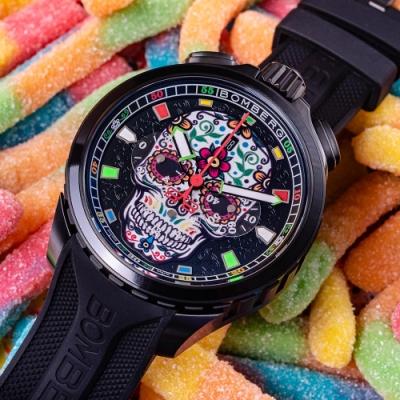 BOMBERG 炸彈錶 BOLT-68 糖果骷髏計時手錶(BS45CHPBA.060-3.11)