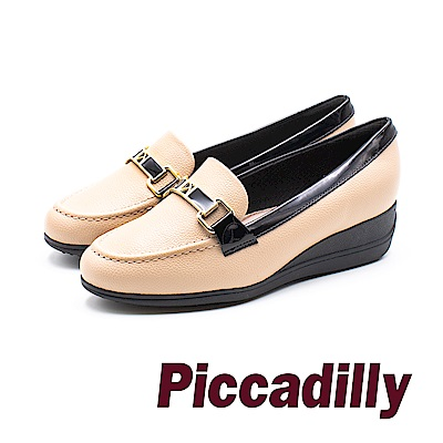 Piccadilly 高雅淑女 增高楔型鞋 - 米 (另有黑/藍)