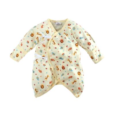 魔法Baby包屁衣 台灣製嬰兒薄長袖護手蝴蝶衣  k51595