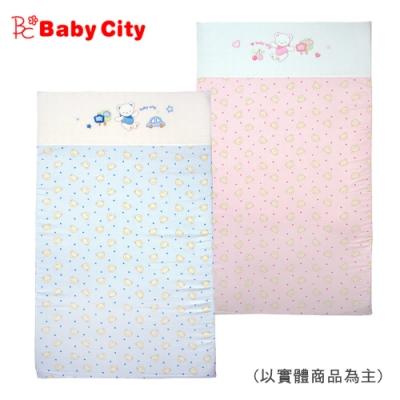 娃娃城 Baby City-寶貝熊乳膠床墊-台規M號(藍/粉)