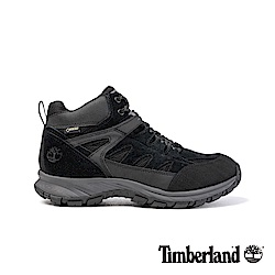 Timberland男款黑色麂皮SadlerPass健行鞋/靴 A1QQC