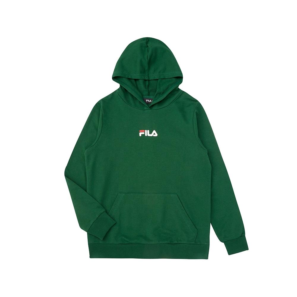 FILA KIDS 童長袖連帽上衣-綠色 1TEV-8903-GN