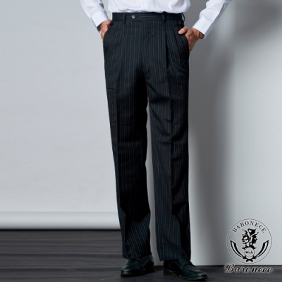 BARONEC 高質感俐落商務打褶褲(605102-10)