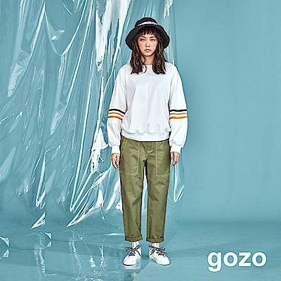 gozo 男孩風斜紋棉質休閒寬褲(二色)