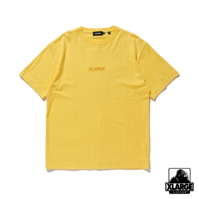 XLARGE S/S TEE EMBROIDERY STANDARD LOGO短袖T恤-黃