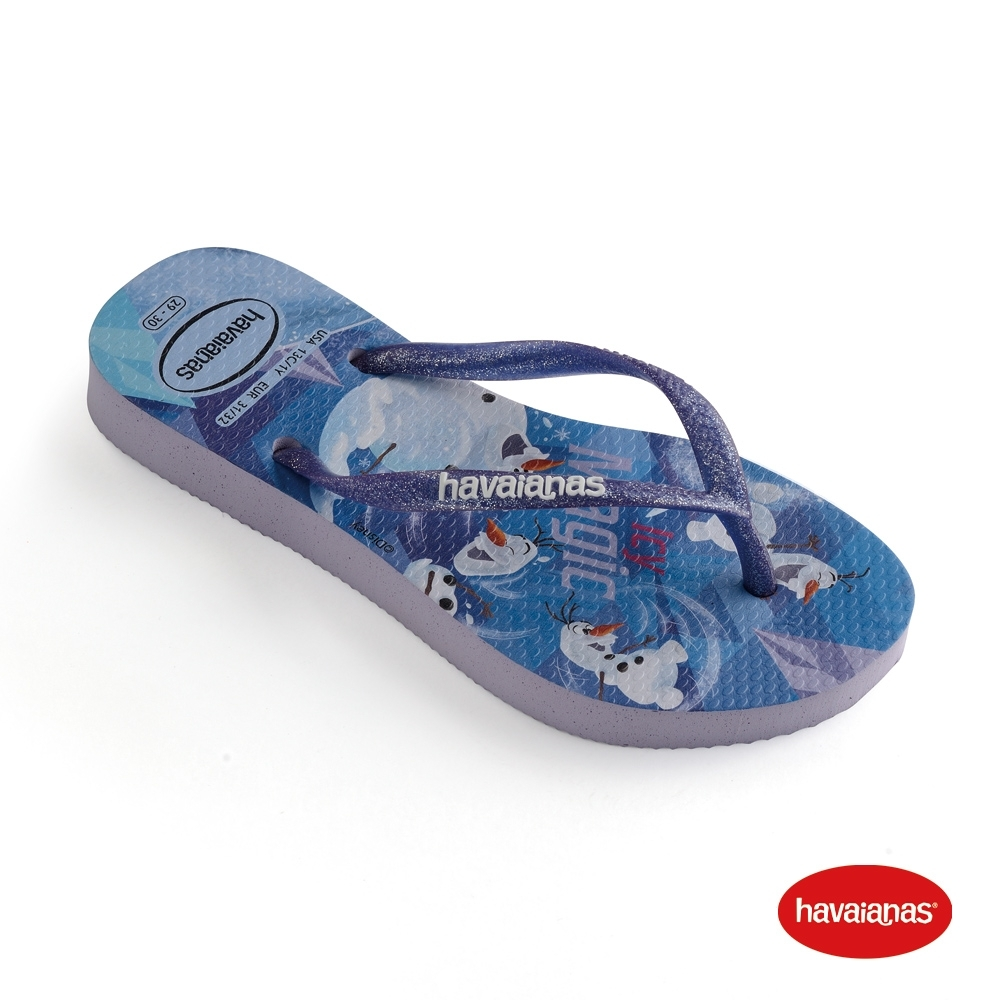 Havaianas 哈瓦仕 拖鞋 夾腳拖 人字拖 巴西 童鞋 兒童 丁香紫 4137266-5251K Kids Frozen 冰雪奇緣 Slim