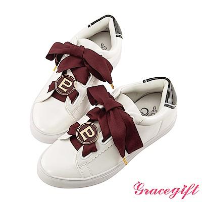 Grace gift-美少女戰士變身器緞帶休閒鞋 咖