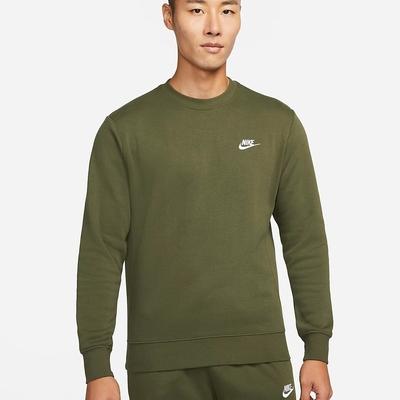 NIKE NSW CLUB CRW BB男長袖上衣 - 綠 -BV2663327