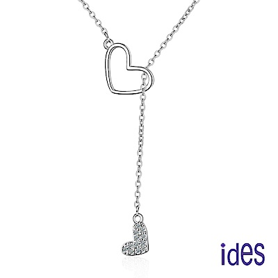 ides愛蒂思 時尚輕珠寶晶鑽項鍊/真心