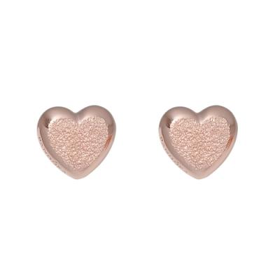 Pandora 潘朵拉  華麗心形玫瑰金色 純銀耳環