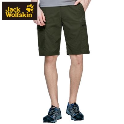【Jack wolfskin 飛狼】男 Supplex 彈性快乾休閒短褲 多口袋『橄欖綠』