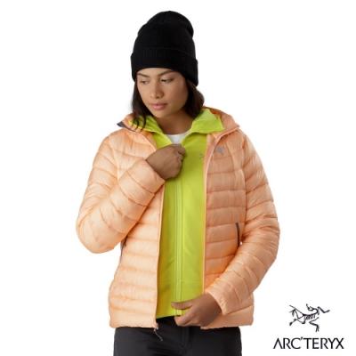 Arcteryx 始祖鳥 女 Cerium LT 防潑水 連帽羽絨外套 靈丹粉橘