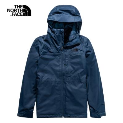 The North Face北面男款藍色防水透氣三合一外套|4NCLY21
