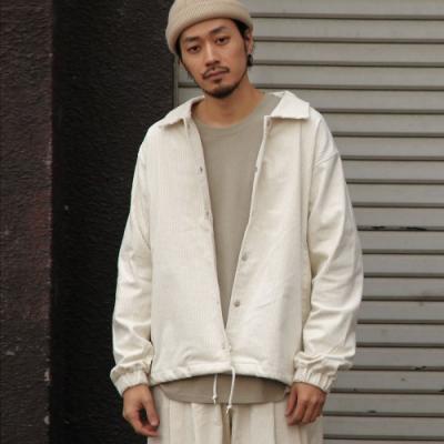 ZIP日本男裝 燈芯絨教練夾克外套彈性(6色)