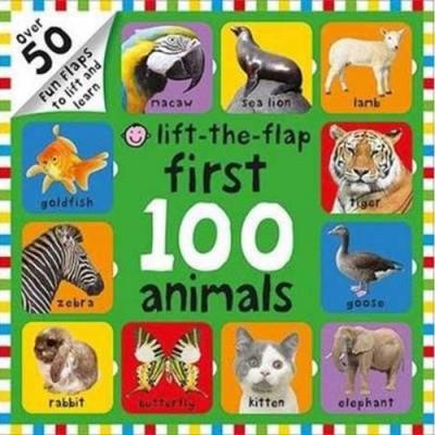 Lift-The-Flap First 100 Animals 硬頁翻翻操作書(英國版)
