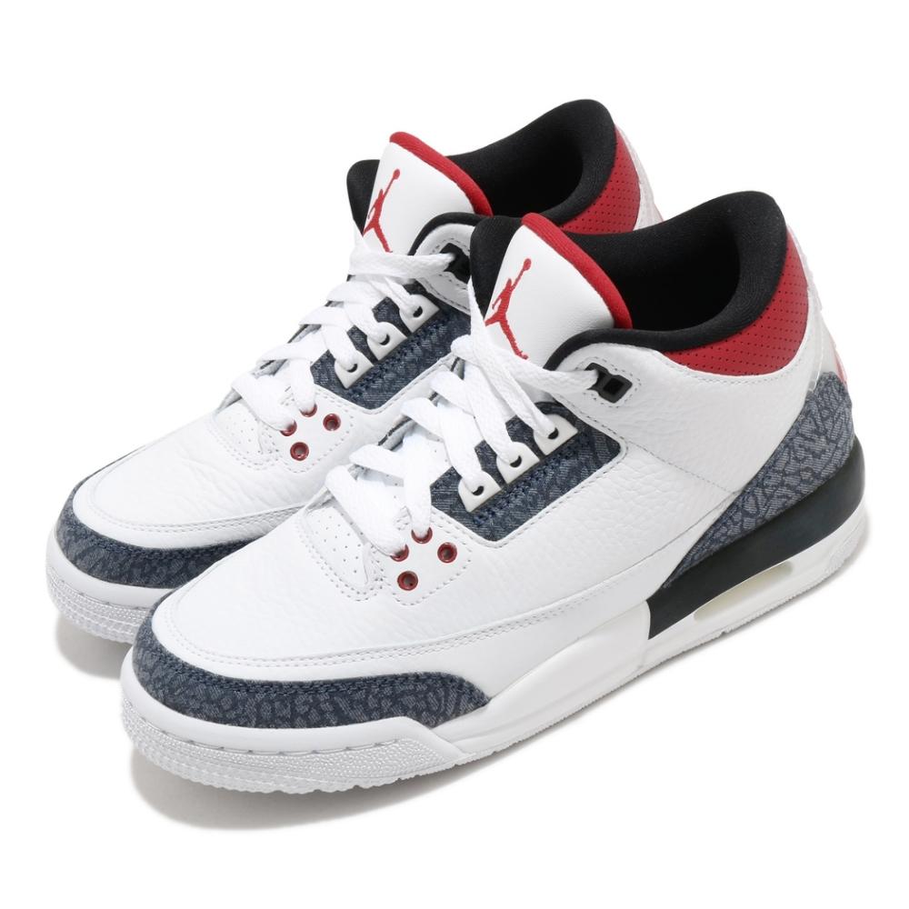 Nike 籃球鞋 Air Jordan 3 Retro 女鞋 經典款 喬丹三代 皮革 穿搭 大童 白 黑 CZ6634100