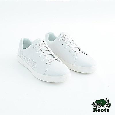Roots男鞋- 經典皮革綁帶鞋-白