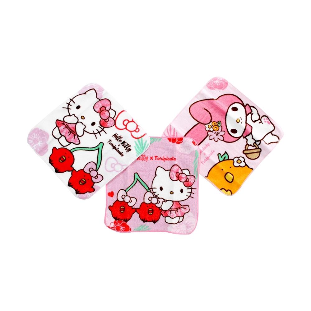Hello kitty美樂蒂兒童方巾(三條組)  c0177 魔法Baby