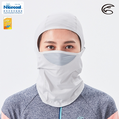 ADISI NICE COOL吸濕涼爽透氣抗UV防曬面罩 AS21026【白煙灰】