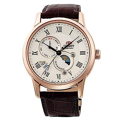 ORIENT 日月相鏤空藍寶石手動機械錶(SAK00001Y0)-米x41mm