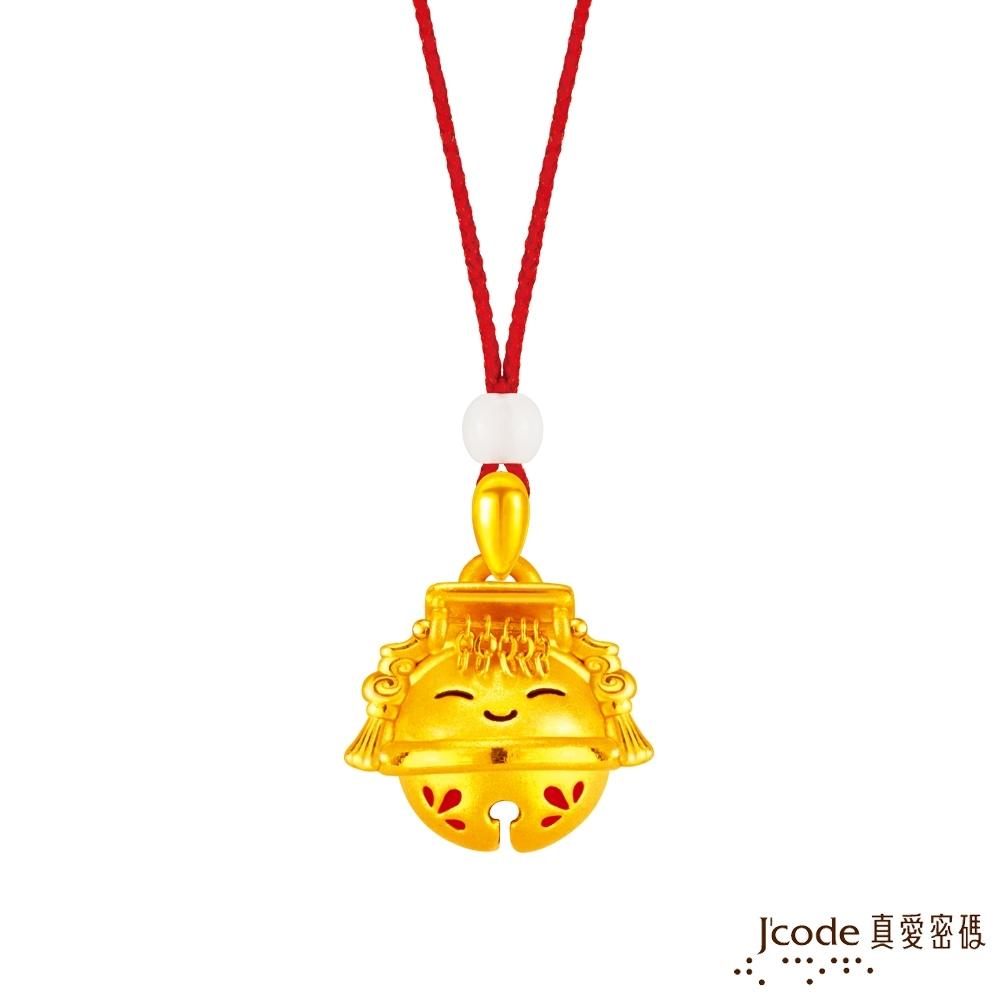 J'code真愛密碼金飾 大甲媽好鈴驗媽祖黃金墜子-立體硬金款 送項鍊