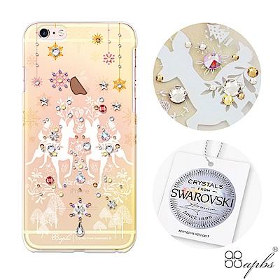 apbs iPhone6s/6 Plus 5.5吋施華洛世奇彩鑽手機殼-斑比透黃