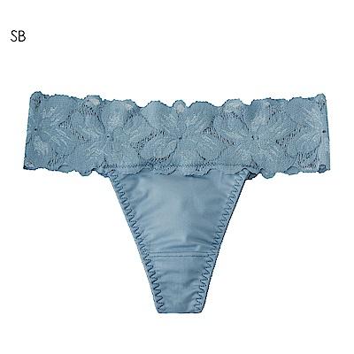 aimerfeel 花卉蕾絲淑女丁字褲-珍珠藍-958323-SB
