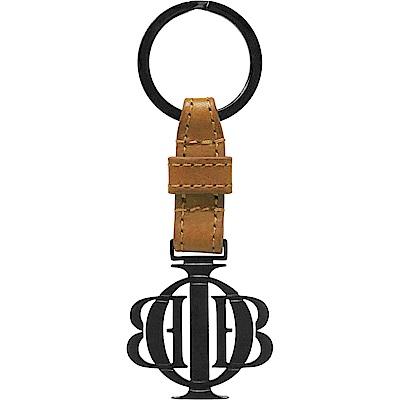 OBBI LAI 義大利牛皮槍黑色不鏽鋼鑰匙圈吊飾 OLKR001B