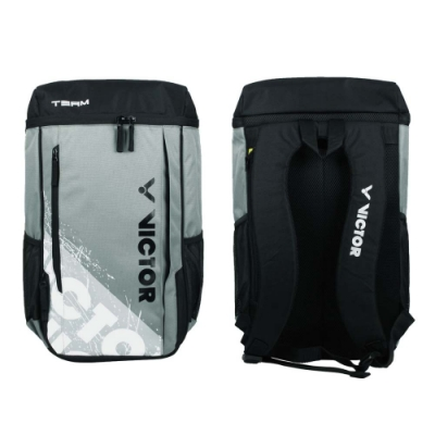 VICTOR 背包-後背包 雙肩包 肩背包 裝備袋 球拍包 羽球 勝利 BR6015HC 黑綠灰白