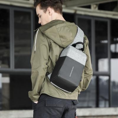 leaper 個性立體休閒USB充電單肩包胸包 共2色