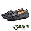 W&M 文青復古風皮鞋 女鞋-黑(另有藍)
