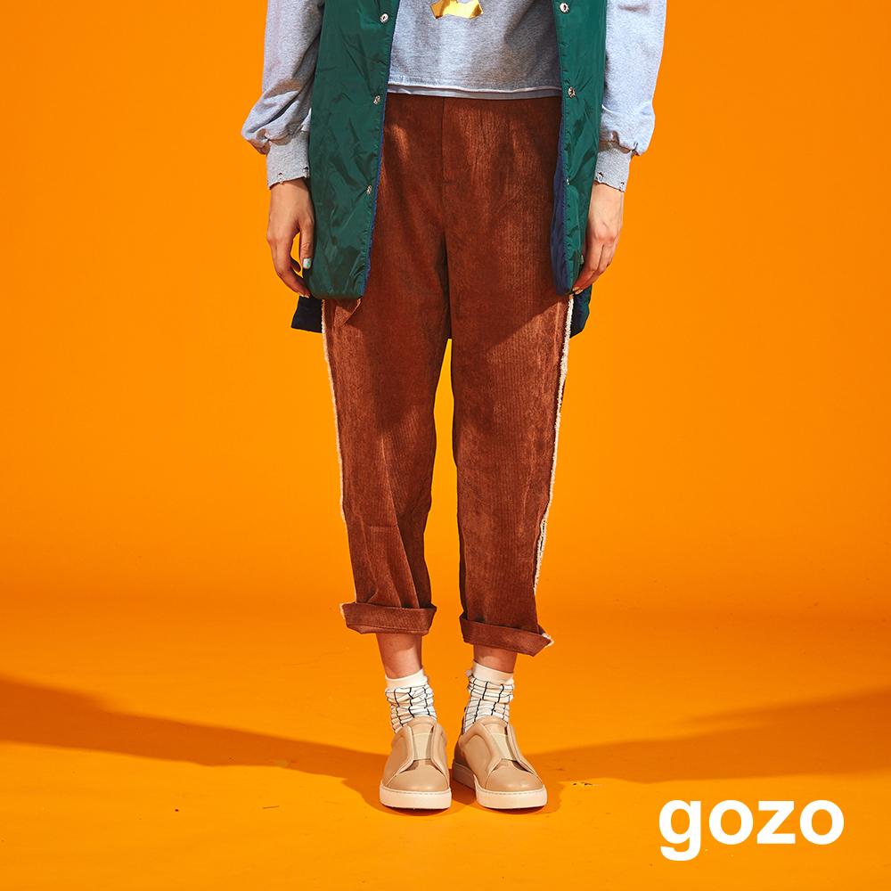gozo 刷舊扣環腰帶燈芯絨褲(二色)