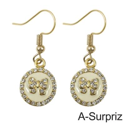 A-Surpriz 蝶意愛戀晶鑽耳環