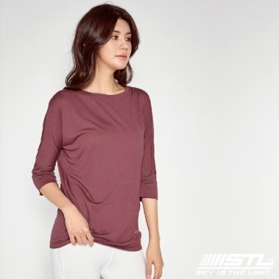 STL yoga Daily Modal Box T-Shirt 韓國瑜珈 運動機能 莫代爾7分袖素色上衣 野薑花紅