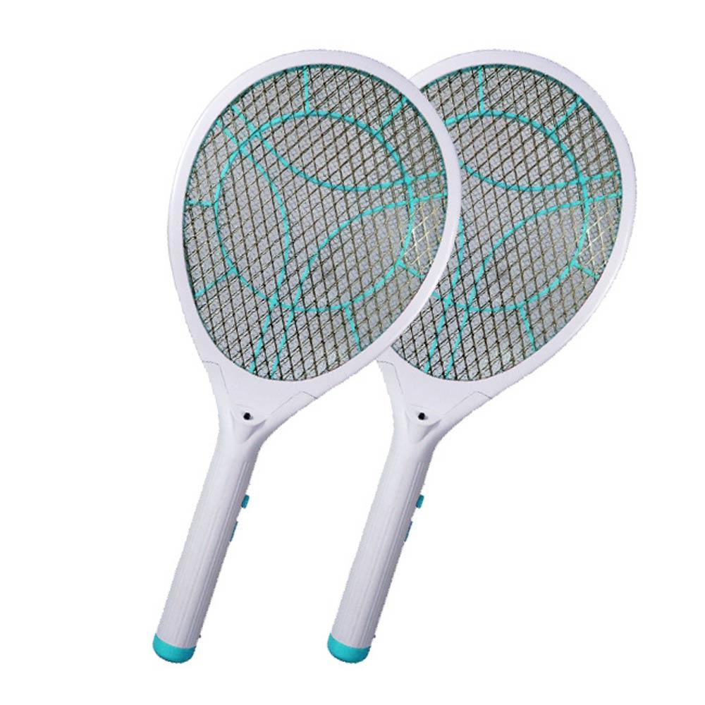 (2入組)KINYO LED充電式三層防觸電捕蚊拍電蚊拍(CM-2235)蚊蠅跑不掉