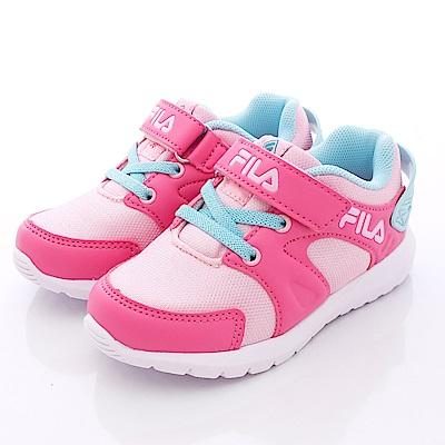 FILA頂級童鞋款 輕量運動鞋款 EI53Q-235桃粉(小童段)0