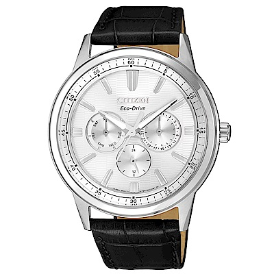 CITIZEN GENTS超越時代三眼計時光動能手錶(BU2071-01A)
