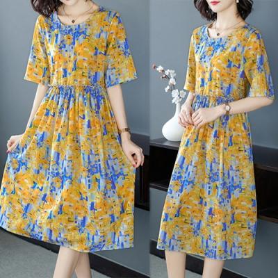 【韓國K.W.】韓時尚賣瘋了印花洋裝