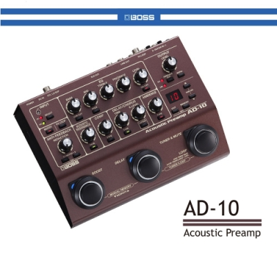 BOSS AD-10 木吉他前級擴大綜合效果器