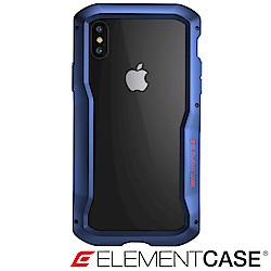 美國 ELEMENT CASE iPhone XS/X VAPOR-S高階金屬防摔殼- 藍