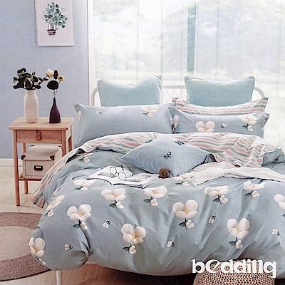 BEDDING-100%棉特大雙人6x7尺薄式床包-春的氣息