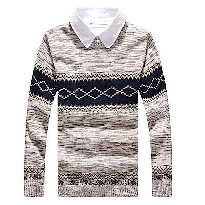 BuyGlasses 學院英倫雪花古著針織毛衣